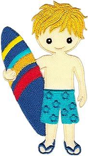 Parche con dise/ño de Gaviota Finally Home Surfer en Tabla de Surf con Ondas Parche para Planchar o Planchar