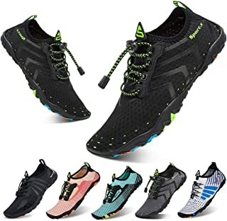YALOX Water Shoes Mens Womens Beach Quick Dry Swim Barefoot Shoes Aqua Sock Outdoor Athletic Pool Shoes for Kayaking, Swim...