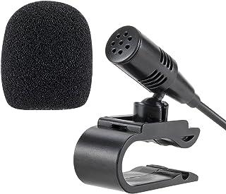 Lling(TM) 3.5mm Conjunto de micrófono externo Micrófono para la unidad principal del vehículo del automóvil Bluetooth Radi...
