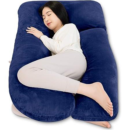AngQi 抱き枕 3in1 だきまくら 妊婦 U型 7型 抱きまくら 授乳クッション 横向き寝 枕 背もたれ 洗える