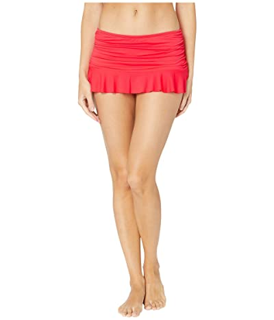 La Blanca Island Goddess Ruffle Skirted Hipster (Watermelon) Women