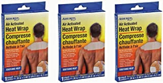 Air Activated Heat Wraps, Neck, Wrist, & Shoulder Pain Therapy, 3-ct Set