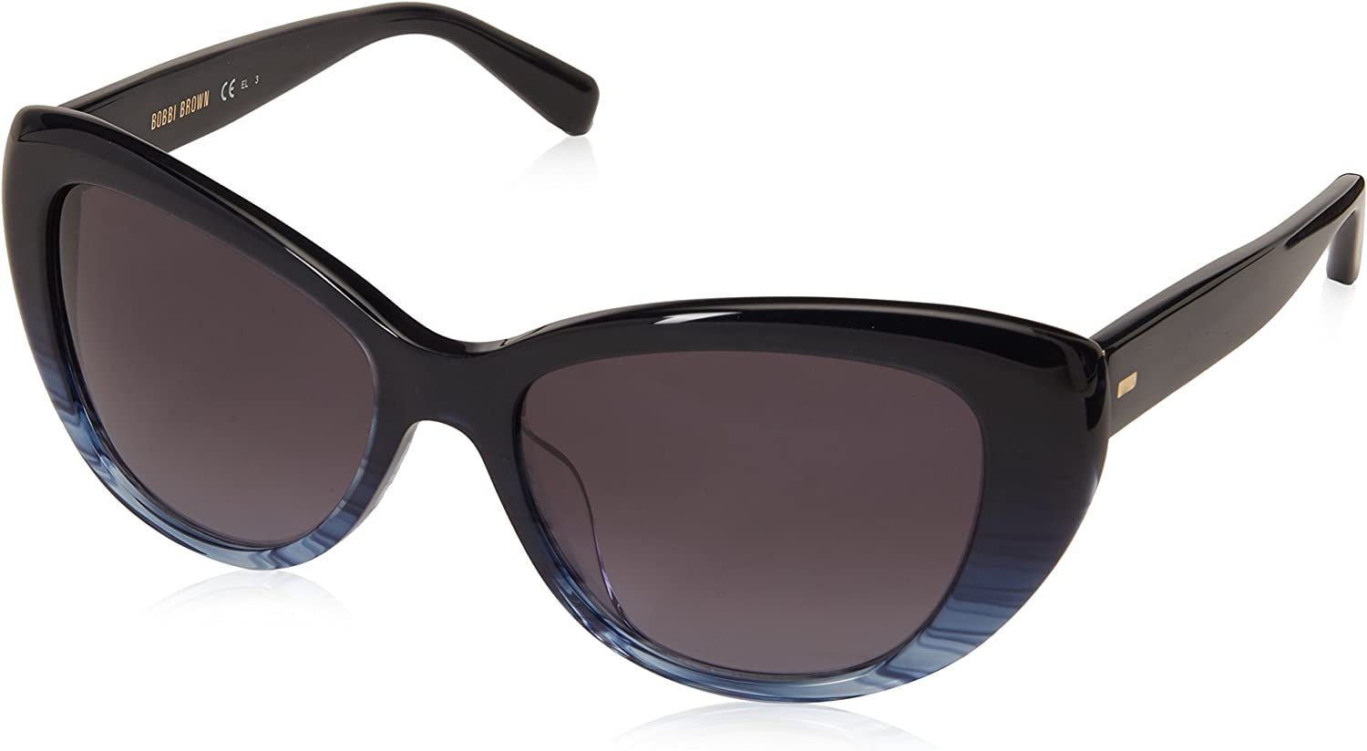 Bobbi Brown Women's The Susana s Square Sunglasses, bluee Horn, 54 mm