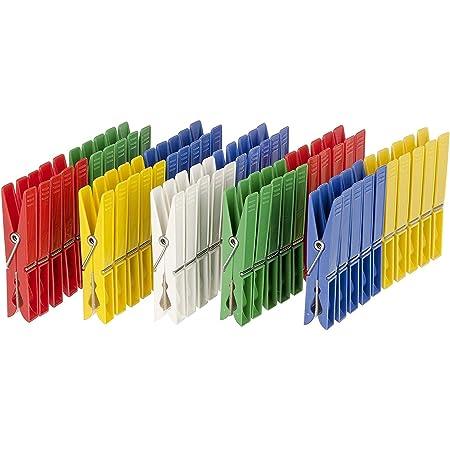 WENKO Pince a Linge,Pince a Linge, Lot de 50 pinces à linge extérieur, couleur Lot de 50 pinces à linge extérieur, couleur