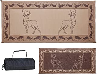 Stylish Camping PE1 Black /Brown/Beige 8-Feet x 18-Feet Deer Mat