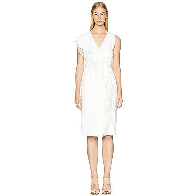 Adam Lippes Stretch Cady Sleeve Wrap Dress (Ivory) Women