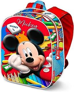 Mickey Mouse Crayons Mochila Infantil, 31 cm, Rojo