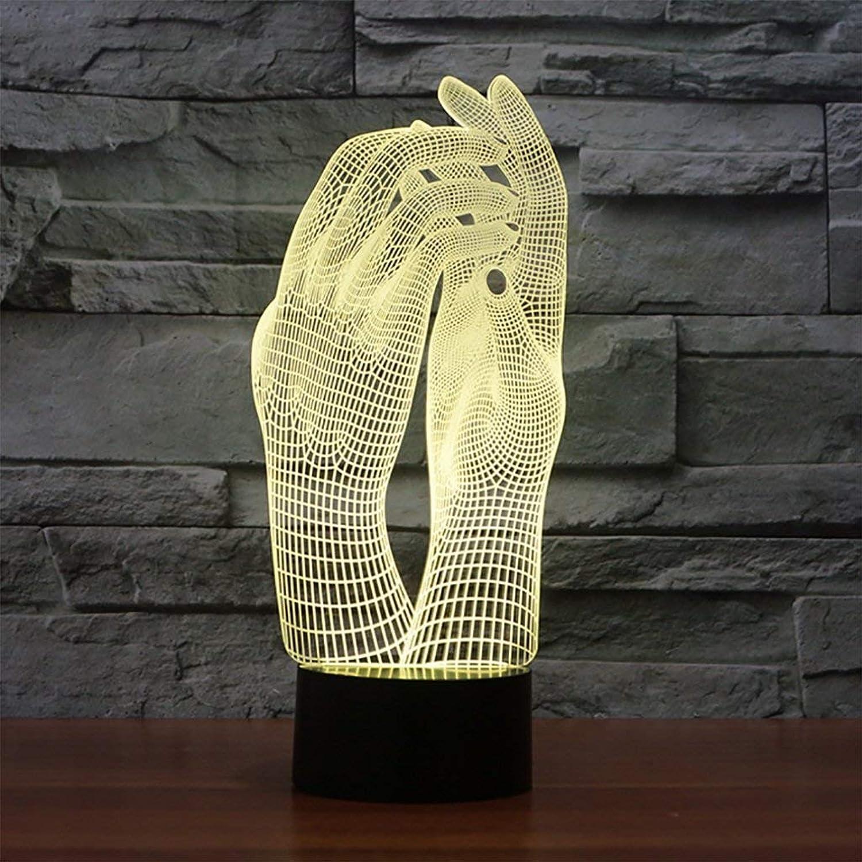 ZHJYEDEN 3D Illusion LED Nachtlicht 7 Farbe Flash Schlafzimmer Tischlampe Kinder Geschenk Dekoration dimmbar Stimmungslicht