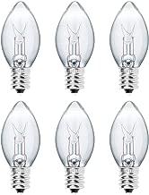 Levoit Salt Lamp Light Bulbs, Himalayan Salt Lamp Original Replacement Bulbs 15 Watt E12 Socket Long Lasting Incandescent Light Bulbs -6 Pack