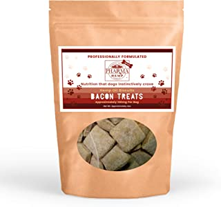 PHARMA All Natural PET Treats (Bacon Dog Biscuits, 4oz - 100mg)