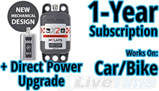 MyLaps X2 Transponder, Direct Power, for Car/Bike, includes 1-Year Subscription