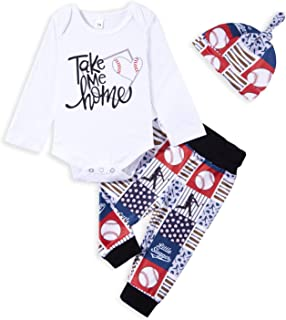 Newborn Baby Boy Clothes New Player in Town Letter Print Romper+Long Pants+Hat Bodysuit Outfits Set