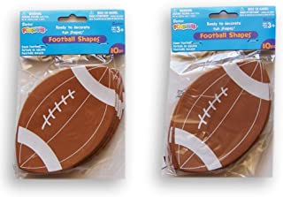 Foamies Footballs -2 Packs of 10 - 5.5 Inches X 3.5 Inches