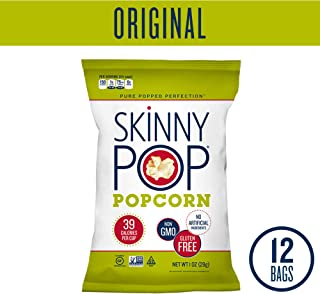 SKINNYPOP Original Popped Popcorn, Individual Bags, Gluten Free Popcorn, Non-GMO, No Artificial Ingredients (Pack of 12)