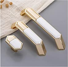 4 Pcs Witte Keramische Kast Knoppen Kastdeur Zinklegering Trekt Handvat Meubels Hardware Accessoires Handvat: