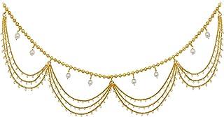 Fresh Vibes Traditional South Indian Golden Kamarband for Women - Fancy Stylish Multi Strand Chain Saree Kamarbandh Belt f...