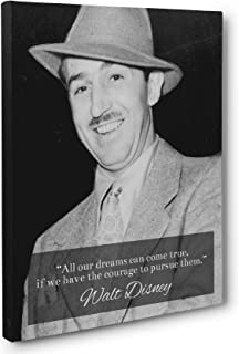 Pursue Your Dreams, Walt Disney Quote Canvas Wall Art