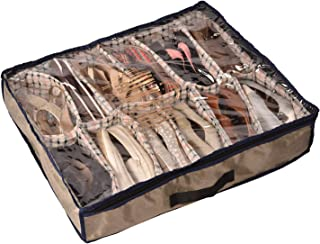 Tat-Sat Under The Bed 12 Pair Multi Purpose Shoe Storage Organizer , Under The Bed Storage, Sturdy, Strong & Better , Made In India, Holds Upto 20kg Weight, Premium Finish, Dual Handles, Size(7*27*30cm)