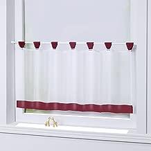 Scheibengardine Bistrogardine  NEU Kreuzstich weiß mit rot 125 cm breit