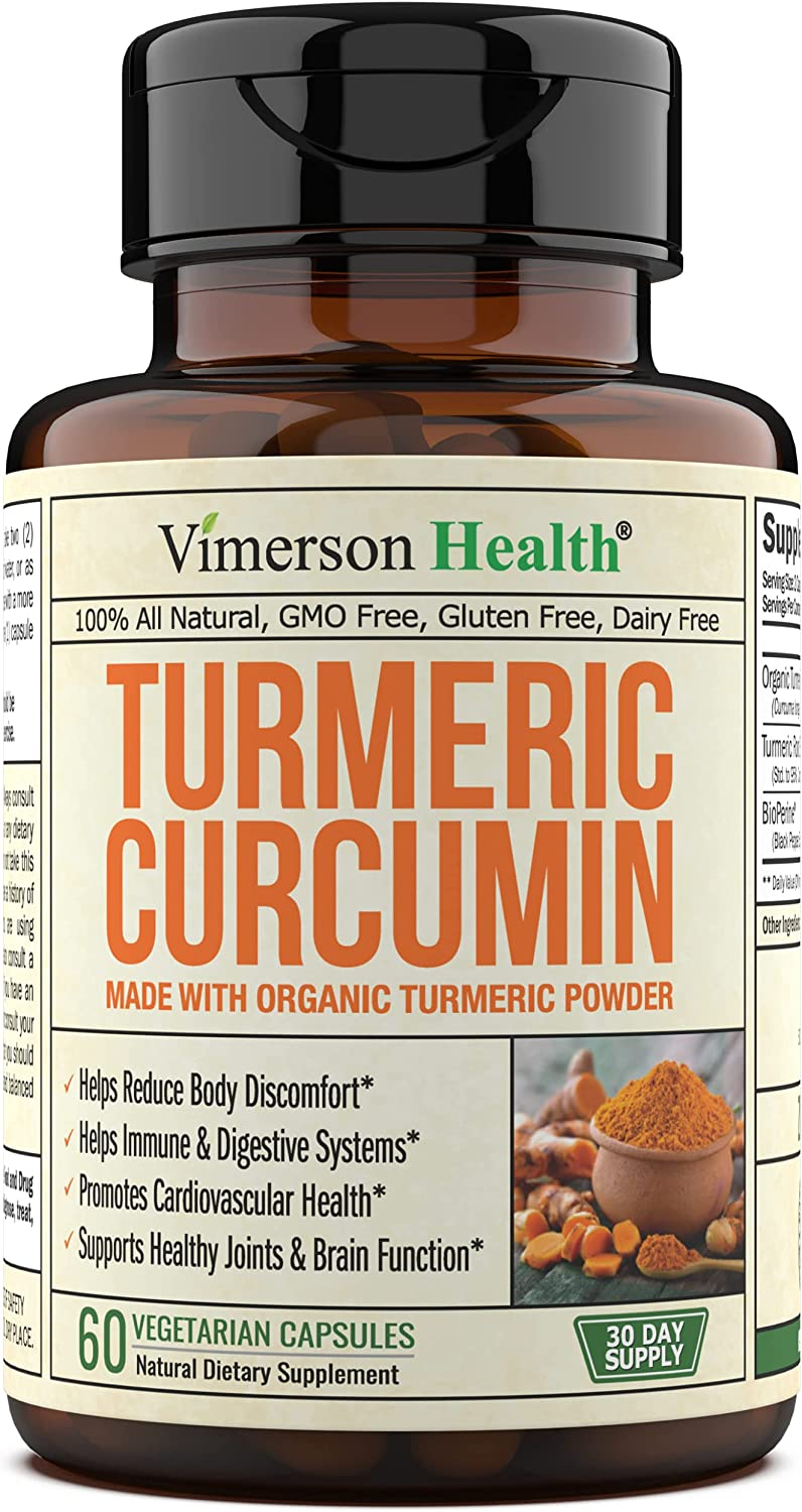 Turmeric Free Shipping Cheap Bargain Gift Curcumin 1400 mg Brand new with Extract Black BioPerine an Pepper
