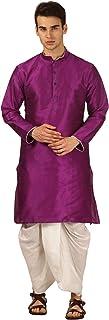 سروال كورتا Royal Kurta رجالي ذو تصميم ذاتي من الحرير (أرجواني)