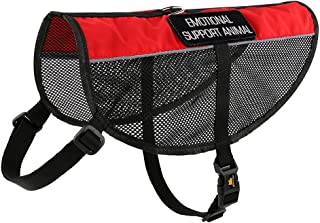 PLUTUS PET Emotional Support Dog Vest with 2 Free Removable Emotional Support Animal Patches, Reflective Lightweight Cool Mesh Dog Vests for Service Dogs