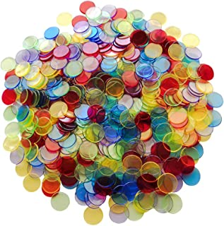 Yuanhe 500 Pieces 3/4 inch Transparent Bingo Counting Chips