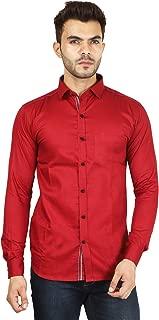 Fmania Men's Plain Regular fit Casual Shirt