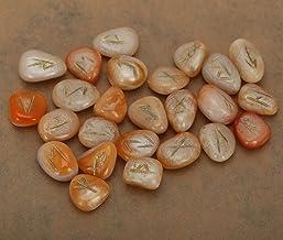 Set di rune di orgone di quarzo trasparente cristallino naturale con simbolo di alfabeto inciso di sambuco anziano simbolo meditazione guarigione divinazione resina colorata//orgone con simbolo