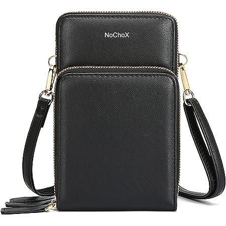 NoChoX Handtasche Damen Umhängetasche Handytasche Zum Umhängen Geldbörse Portemonnaie mit Vielen Fächern Kartenfach - Verstellbare Schultergurte