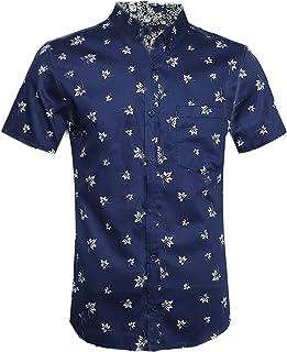 977c576065 Camisa Hawaiana Para Hombre Camisas Corta Fibujos Hombre Ropa Estampada de  Verano con Diseño de Hojas