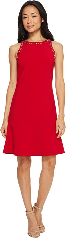Ellen Tracy - Sleeveless Flounce Hem Dress