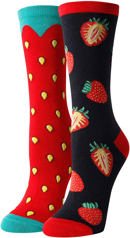 HAPPYPOP Pineapple IVF Cherry Popcorn Banana Pickle Strawberry Socks for Women Girls, Funny Pineapple IVF Cherry Gifts