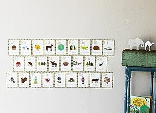 26 Piece Nature Themed English Alphabet Wall Card Set