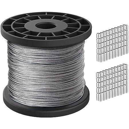 DQ-PP 2,5mm 20m Edelstahl Drahtseil 7x19 TOP WARE Stahlseil Seil Draht Stahl V4A INOX A4 rostfrei Gel/änder Edelstahlseil
