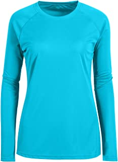 Women's UPF 50+ Sun Protection Long Sleeve Performance Active Top Shirts Fitness Workout Running Sports Leisure T-Shirt