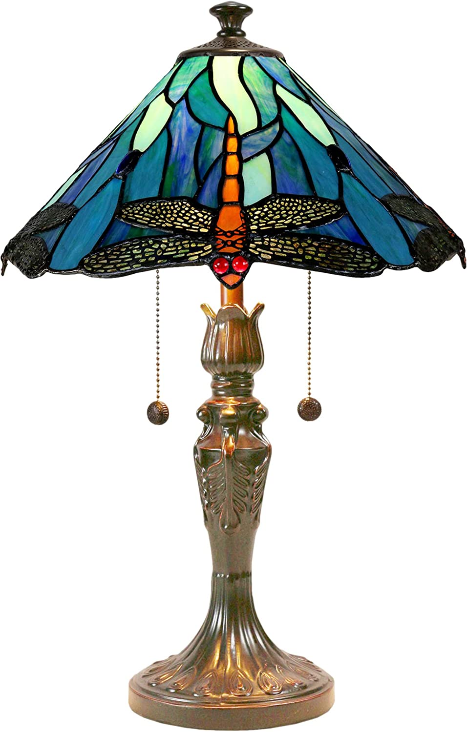 2021new shipping free shipping Dale OFFicial shop Tiffany Lamps TT19215 Table Lamp Dragonfly Huxley