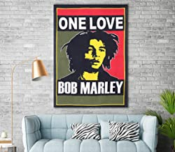 Bob Marley One Love Wall Decor Wall Hanging One Love Bob Marley Tapestry Bob Marley Fabric Poster Wall Art by Reet multi (Cotton Twin)