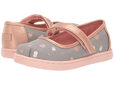 TOMS Kids Mary Jane (Infant/Toddler/Little Kid) (Drizzle Grey Party Dots) Girls Shoes