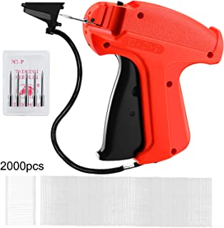 VIBOLA Price Tag Gun, Tagging Gun for Clothings Tag Attacher Gun Price Label Gun Clothes Labeler with 5 Standard Needles & 1500 (+500 Extra) Pcs Barbs Fasteners (1500)
