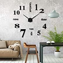 3D Selbstklebende Uhr Wanduhr Spiegel Deko Dekor Wandtattoo Wandsticker Mode DIY