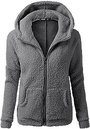 Veste Polaire Zippé Sweat-Shirt à Capuche Manteau