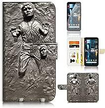 (for Google Pixel 3) Flip Wallet Case Cover & Screen Protector Bundle - A8555 Starwars Han Solo Carbonite