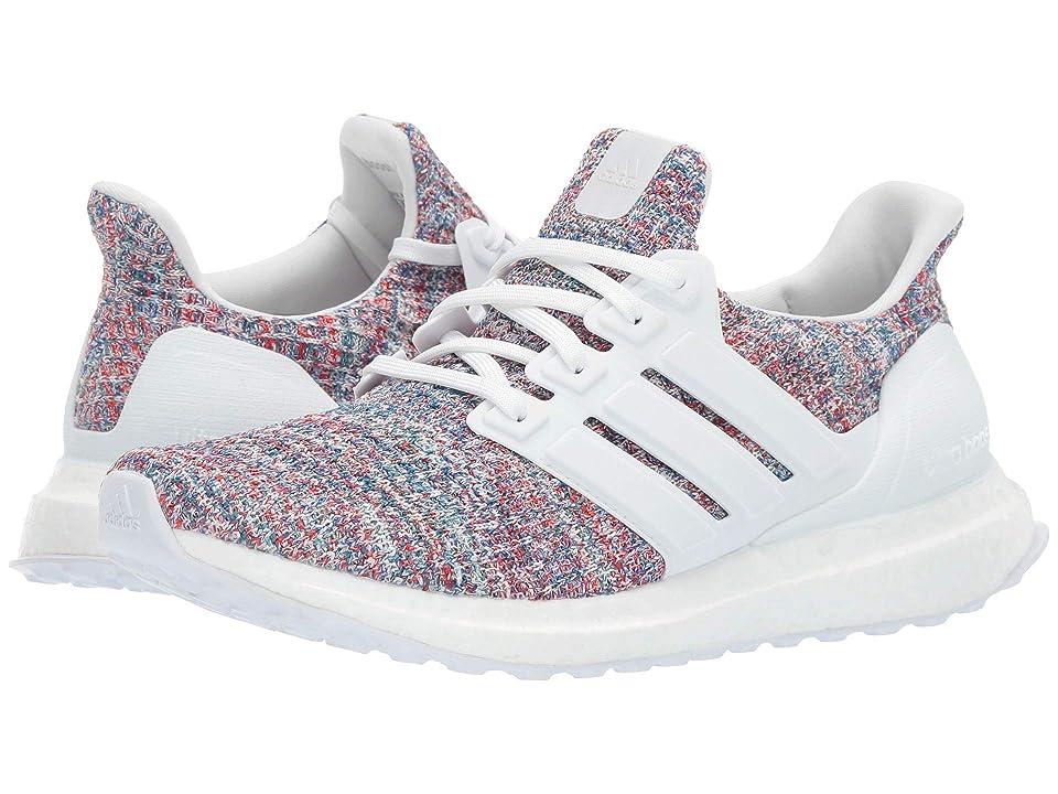 adidas Kids UltraBOOST (Big Kid) (Footwear White/Footwear White/Blue) Kids Shoes