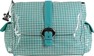 Kalencom Messenger Buckle Diaper Bag, Houndstooth/Aqua by Kalencom
