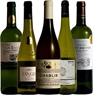 フランス周遊 シャブリ入り 三大人気白ブドウ品種飲み比べ ソムリエ厳選ワインセット 白ワイン 750ml 5本