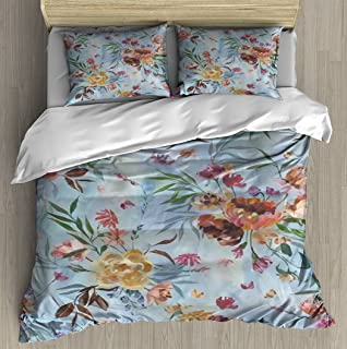 Oil painting imitation seamless pattern Colorful hand painted Duvet Cover Set With Zipper Closure Pillowcase Retro Bedding...