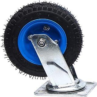 1 x zwenkwielen, 15,2 cm (6 inch), opblaasbare rubberen wielen, zware vrachtwagenindustrie, platte bolderkar, vervanging v...