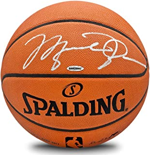 8669eb69eee Michael Jordan Autographed Spalding NBA Official Game Basketball: Upper Deck