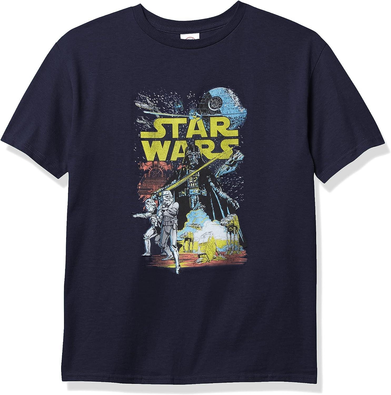 STAR WARS Rebel Classic Boy's Premium Solid Crew Tee